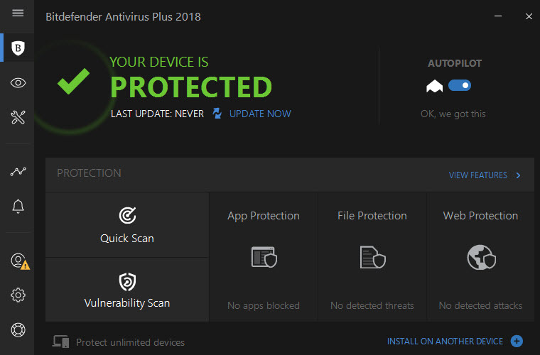 bitdefender 2018 interface