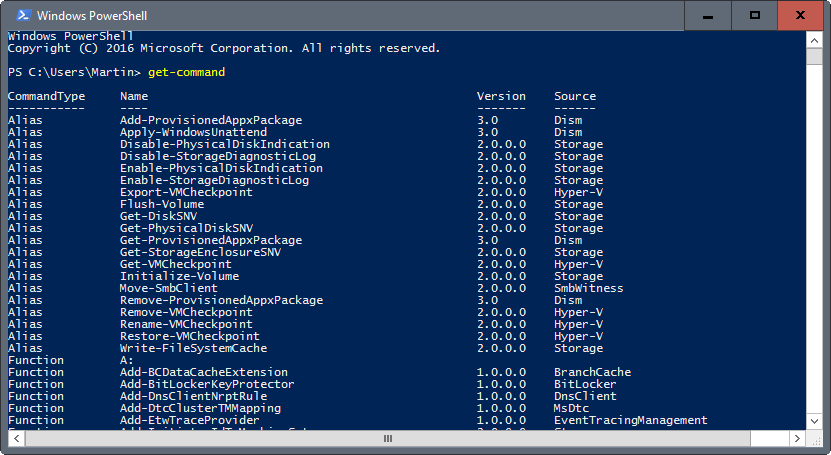 get-command powershell