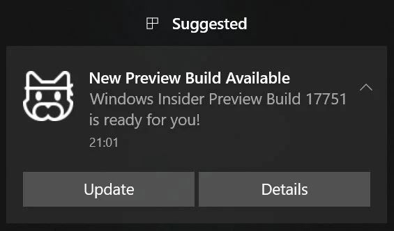 new preview build windows