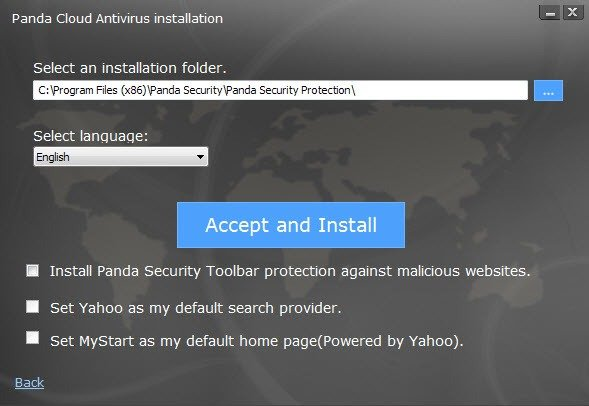 panda cloud antivirus free installation