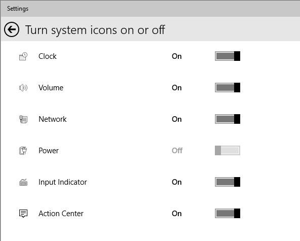system settings icons